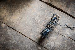 混杂的电线 免版税库存照片