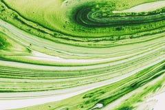 混杂的白色和绿色油漆 抽象背景 免版税图库摄影