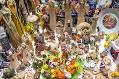 混杂的纪念品在布拉格 库存照片