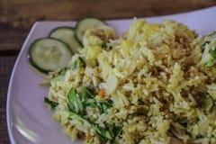 混杂的菜炒米-泰国食物 免版税库存照片