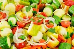 混杂的蔬菜 库存图片