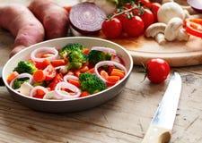 混杂的蔬菜 免版税库存照片