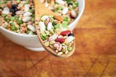 混杂的豆类和谷物 免版税图库摄影