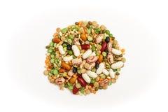 混杂的豆类和谷物 库存照片