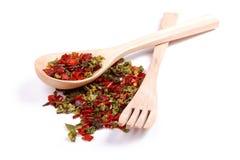 混杂的香料是胡椒不同的品种  库存照片