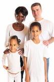 混杂种族家庭 免版税库存照片