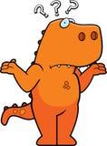 混淆的恐龙 免版税库存照片