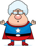 混淆的祖母超级英雄 库存例证