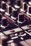 黑混音器控制器 库存照片