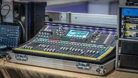 混音器控制板按钮 免版税库存图片