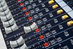混音器音量控制器 图库摄影