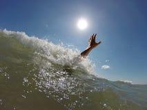 淹没人的手 图库摄影