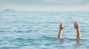 淹没人 图库摄影