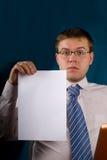 添加企业通知单文本 免版税库存照片