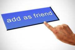 添加作为朋友 免版税库存照片