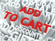 添加到购物车概念。 免版税库存照片