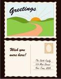 添加地点明信片 免版税库存照片