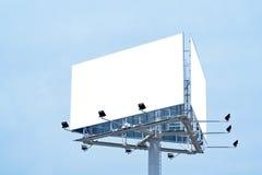 添加广告牌您空白的文本 免版税库存照片