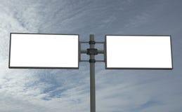添加您广告牌空白的消息 免版税库存图片
