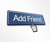 添加按钮点击的朋友 免版税库存照片