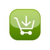 添加按钮购物车到万维网 向量例证