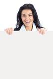 添加显示妇女的横幅商业 免版税库存图片