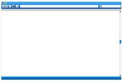 添加浏览器概念网页空间到万维网 库存图片
