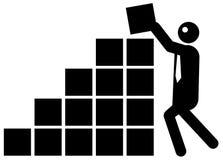 添加生意人增长 向量例证