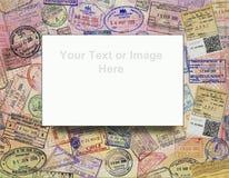 添加背景护照文本签证 免版税库存照片