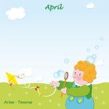 添加4月基础日历 库存照片