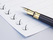 清单概念 免版税库存图片