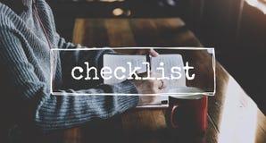 清单通知记住计划计划概念 图库摄影