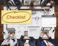 清单任命日程表事件概念 库存图片