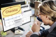 清单任命日程表事件概念 免版税库存图片