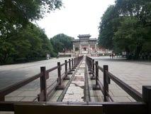 清宫Dynastyï ¼ 纪念品曲拱的昭陵陵墓 库存图片
