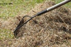 清扫草的储蓄照片与犁耙供气和scari 库存图片