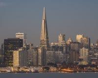 清早光的2街市旧金山 免版税库存照片