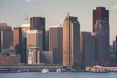 清早光的4街市旧金山 免版税库存照片