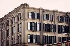 清早在街市Galveston,得克萨斯 免版税库存照片