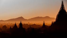 清早在Bagan 免版税库存照片