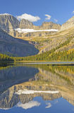 清早在Mountain湖的秋天反射 图库摄影