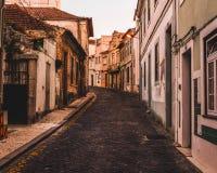 清早步行在阿威罗,葡萄牙 库存照片