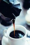 清早浓咖啡 免版税库存图片
