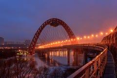 清早莫斯科和晚上 库存图片
