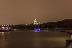 清早莫斯科和晚上 图库摄影