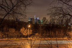 清早莫斯科和晚上 库存照片
