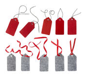 清楚的例证红色丝带销售额标签向量 免版税图库摄影