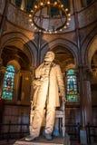 清楚的克利夫兰日加菲尔德・詹姆斯纪念俄亥俄冬天 加菲尔德纪念品雕象 库存照片