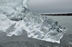 清楚的冰晶。 库存图片