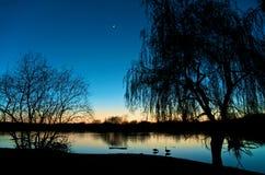 清楚的冷静夜间 图库摄影